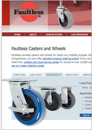Buy Casters Online at FaultlessCaster.com